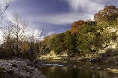 North Fork Autumn 2. Autumn view of the North Fork of the Guadalupe River near Hunt, Texas Stock Photography