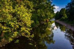 North Fork den södra filialen av Potomacet River, i Seneca Rock Royaltyfri Bild