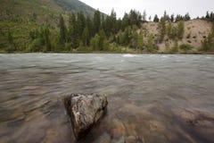 North Fork Flathead flod Royaltyfria Foton