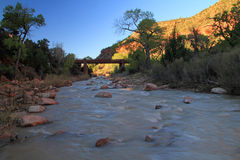 North Fork of the Virgin River Royalty Free Stock Photos