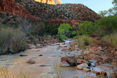 North Fork of the Virgin River Stock Image