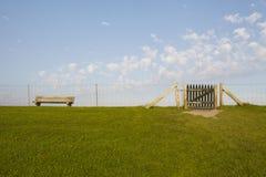 North Frisia - Dike and gate. A gate at the dike near Luettmoorsiel (Germeny, North Sea Royalty Free Stock Image