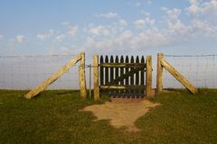 North Frisia - Dike and gate Stock Photography