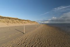On the North Frisian Island Amrum. In Germany Royalty Free Stock Photo