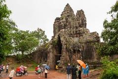North Gate, Angkor Thom, Cambodia Stock Photography