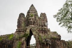 North Gate, Angkor Thom, Cambodia Stock Photos