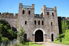 North Gate of Cardiff Castle Stock Images