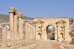 North Gate, Jerash (Jordan) Royalty Free Stock Photo