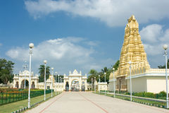 North gate of Mysore Maharajah's palace Stock Images
