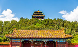 North Gate and Wanchun Pavilion in Jingshan Park - Beijing Royalty Free Stock Images