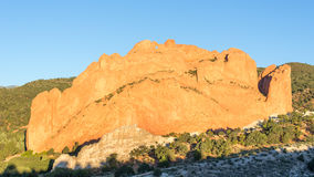 North Gateway, Kissing Camels, Tower Of Babel, Garden Of The God. North Gateway, Kissing Camels, Tower of Babel named rock formations in Garden of the Gods Royalty Free Stock Photography