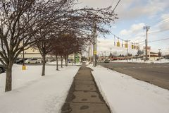 North Genesee Street stock images