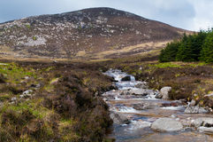 North Glen Sannox sream and mountain Stock Photography