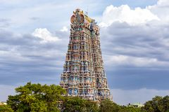 The north gopuram of the Meenakshi temple royalty free stock photography