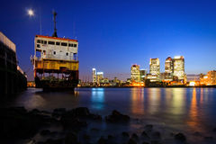 North Greenwich and Canary Wharf, London. Royalty Free Stock Photo