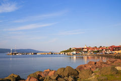 The north harbor of the old town of Nessebar, Bulgaria Royalty Free Stock Photos
