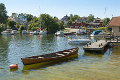 North harbour Vaxholm Stockholm archipelago Royalty Free Stock Photos