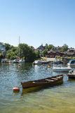 North harbour Vaxholm Stockholm archipelago Royalty Free Stock Images