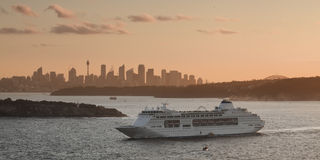 North Head Cruise Harbour Sunset Royalty Free Stock Photo