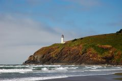 North Head Lighthouse. At  Cape Disappointment State Park Royalty Free Stock Photography