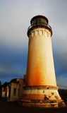 North Head Lighthouse from below. Lighthouse North Head Cape Disapointment Royalty Free Stock Photo