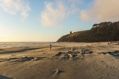 North Head Lighthouse from Cape Disappointment state park Washington USA. Royalty Free Stock Photography