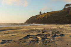 North Head Lighthouse from Cape Disappointment state park Washington USA. Stock Photo