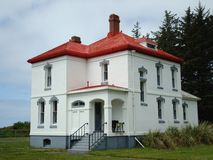 North Head lighthouse head keeper's house Stock Images