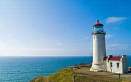 North Head Lighthouse on the Oregon Coast. On a Clear, Sunny Day Royalty Free Stock Photography
