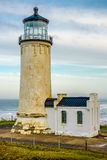 North Head Lighthouse at Pacific coast, built in 1898. North Head Lighthouse at Pacific coast, Cape Disappointment, built in 1898, WA, USA royalty free stock image