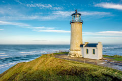 North Head Lighthouse at Pacific coast, built in 1898. North Head Lighthouse at Pacific coast, Cape Disappointment, built in 1898, WA, USA stock photo
