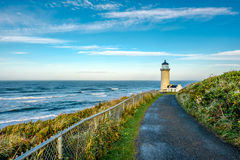 North Head Lighthouse at Pacific coast, built in 1898. North Head Lighthouse at Pacific coast, Cape Disappointment, built in 1898, WA, USA stock image