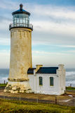 North Head Lighthouse at Pacific coast, built in 1898 Royalty Free Stock Photos