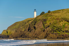 North Head Lighthouse at Pacific coast, built in 1898 Stock Photography