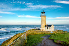 North Head Lighthouse at Pacific coast, built in 1898 Stock Photos