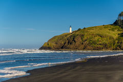 North Head Lighthouse at Pacific coast, built in 1898 Stock Image