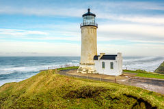 North Head Lighthouse at Pacific coast, built in 1898 Royalty Free Stock Photography