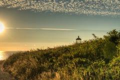 North Head Lighthouse on the Southern Washington Coast Royalty Free Stock Photography
