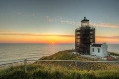 North Head Lighthouse on the Southern Washington Coast Stock Photos