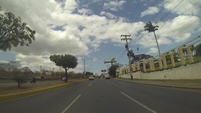 North Highway Managua, the main highway that connects all Central America in Nicaragua stock video