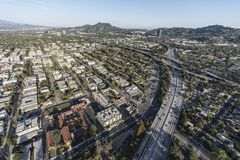 North Hollywood California 170 Freeway Aerial Stock Images
