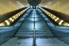 North Hollywood Subway station. Los Angeles, CA/USA - September 09 2013: Subway station stairs royalty free stock photo