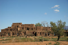 North house in Taos Pueblo Stock Image