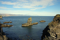 North of Iceland. Rocky coast on North seashore of Iceland Stock Photography