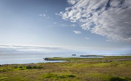 North Iceland Landscape. View of the Greenland Sea in the north iceland coastline Royalty Free Stock Photo
