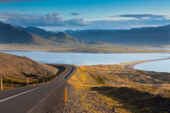North Iceland Sea Lagoon Landscape Royalty Free Stock Photo
