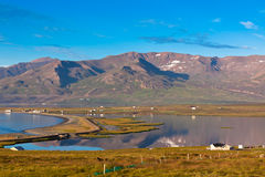 North Iceland Sea Lagoon Landscape Stock Images