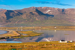 North Iceland Sea Lagoon Landscape Royalty Free Stock Photos