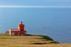North Iceland Sea Landscape with Lighthouse Royalty Free Stock Photo