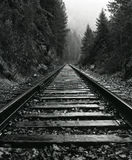 North Idaho Train Tracks Royalty Free Stock Images
